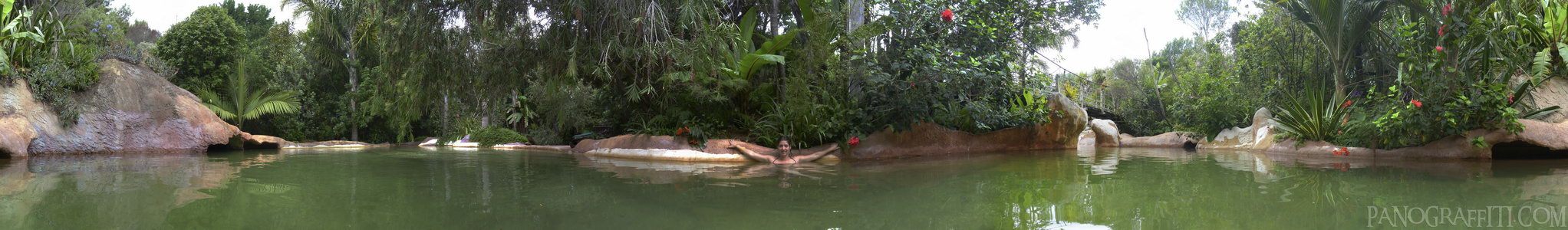 Lost Spring Hot Pools 360 - A 360 degree view of Lost Spring Spa in Whitianga