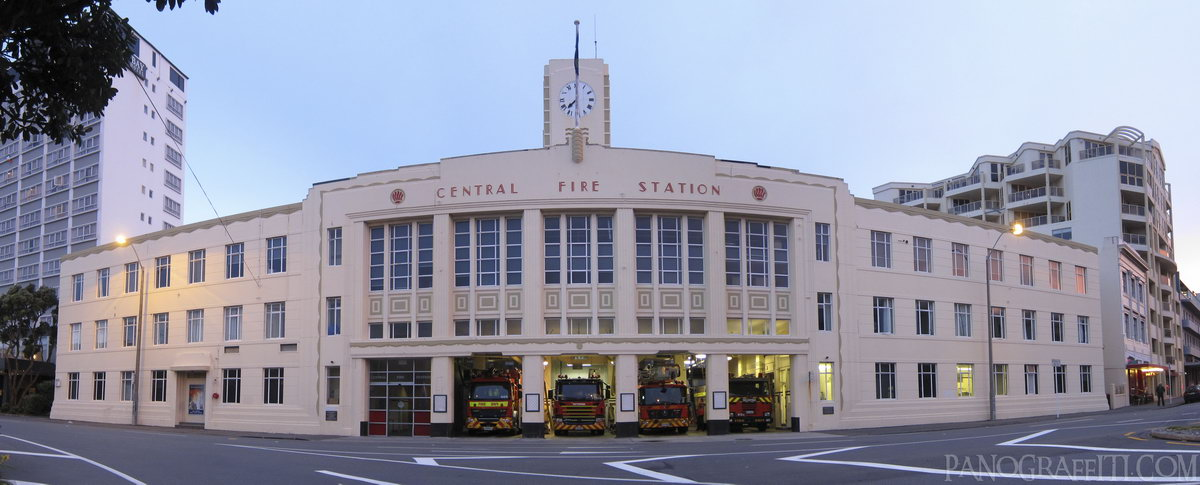 Wellington Central Firestation - A beautiful art decot building being functional as a firehouse