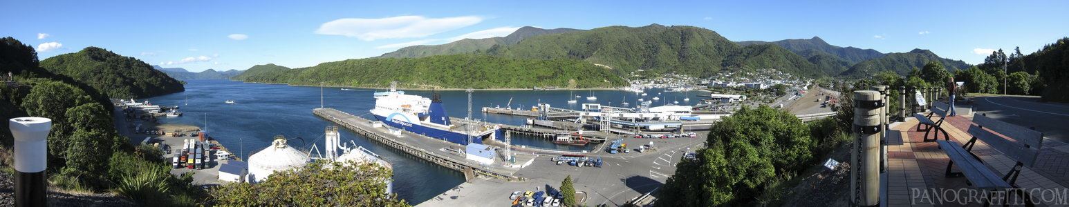 Bluebridge Ferry in Port Picton - Picton, Marlborough, New Zealand