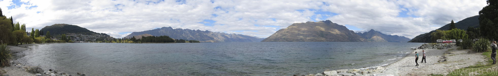 Queenstown and Lake Wakatipu Near Sunshine Bay - Queenstown, Otago, New Zealand