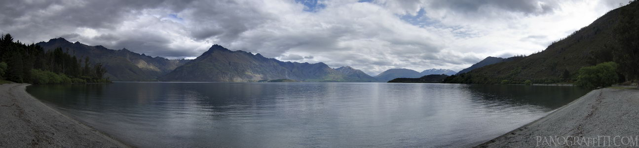 Lake Wakatipu Roadside Bay HDR - Stitched Panorama