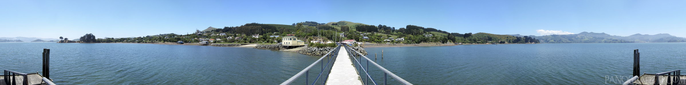 Broad Bay From A Dock - Otago Peninsula, Otago, New Zealand