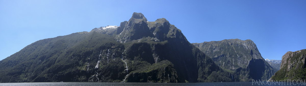 Stirling Falls in Milford Sound - Fiordland, Fiordland National Park, Southland, New Zealand