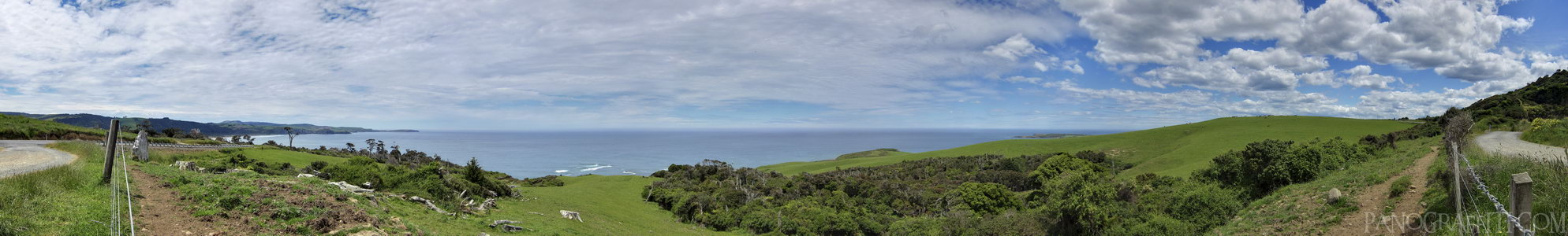 Florence Hill HDR - The coast line from Florence Hill Lookout in the Catlins
