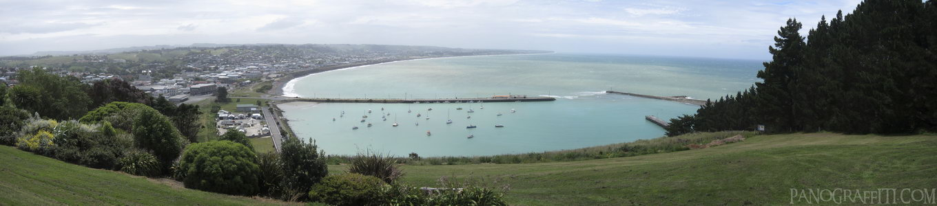 Oamaru Harbor Lookout - Otago, New Zealand