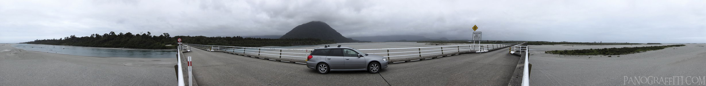 Haast Highway Bridge 360 - Haast Pass, West Coast, New Zealand