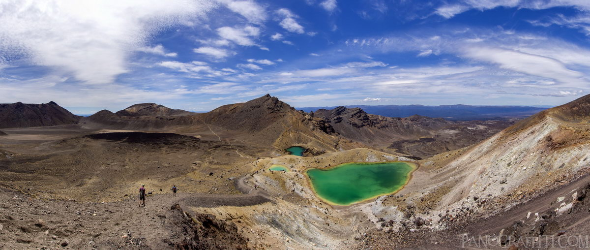 The Emerald Lakes - All 3 of the Emerald Lakes on the Tongariro Crossing
