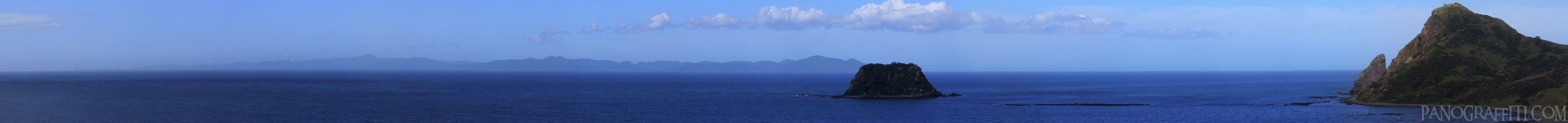 Great Barrier Island From Fletchers Bay - View of Great Barrier Island in the distance