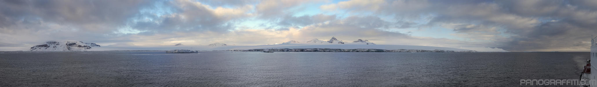 Arriving in the Antarctic Peninsula on the Akademik Loffe - 1,000 km away from South America, the harbors of the Antarctic Peninsula offer the first opportunity for calm waters after crossing the Drake.