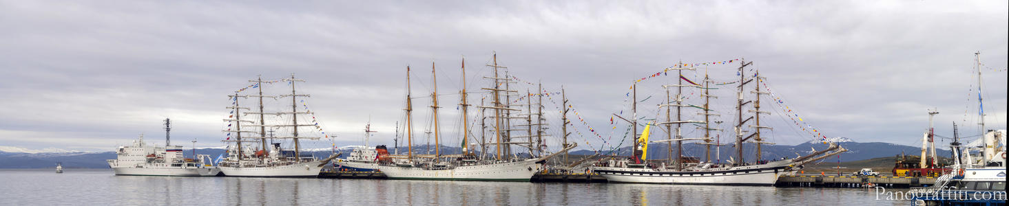 Latin American Sails Tall Ships - A parade of tall ships from South America including Argentina, Brazil, Chile, Colombia, Ecuador, Mexico and Venezuela celebrate the naval battle of Montevideo in 1814 by sailing tradition ships around the continent to 13 ports, ending in Mexico.