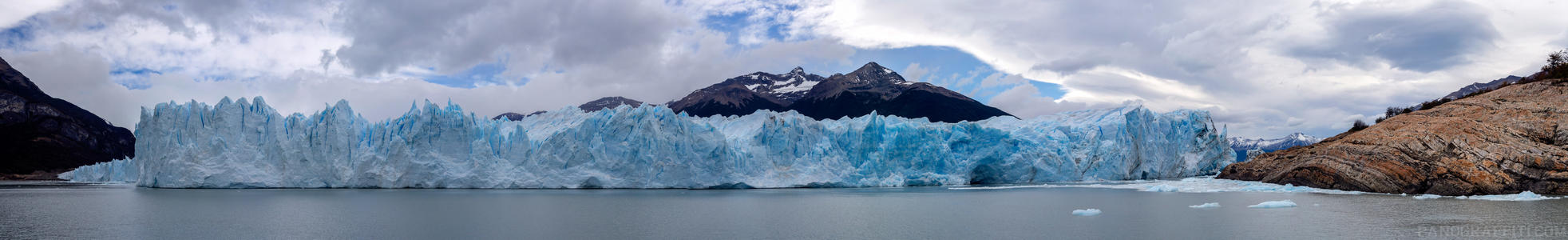 Perito Moreno Glacier at Water Level - Less than half of the Perito Moreno Glacier can be seen from this perspective in the lake