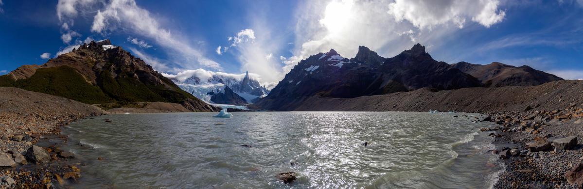 Lagon at Cerro Torre - A glacial lake at the end of the walk to see Cerror Torre