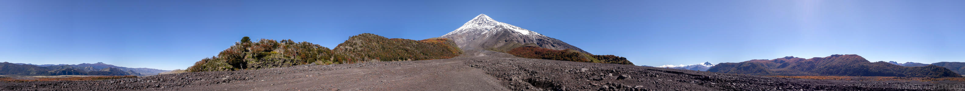 Base of Volcano Lanin in 360 - A full 360 degree view of the walk up to the base of Volcano Lanin