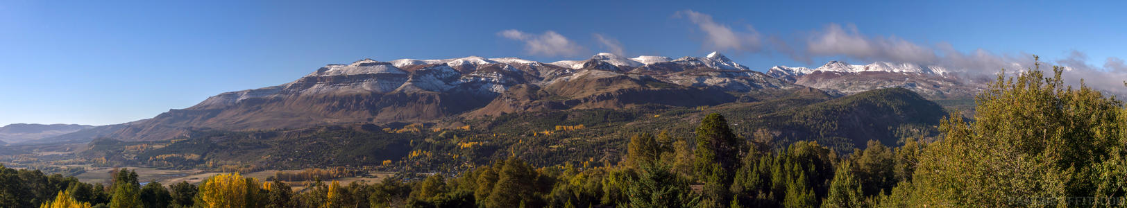 Mountains Along Ruta 62 - A snow covered range of mountains along route 62 in the Neuquen region