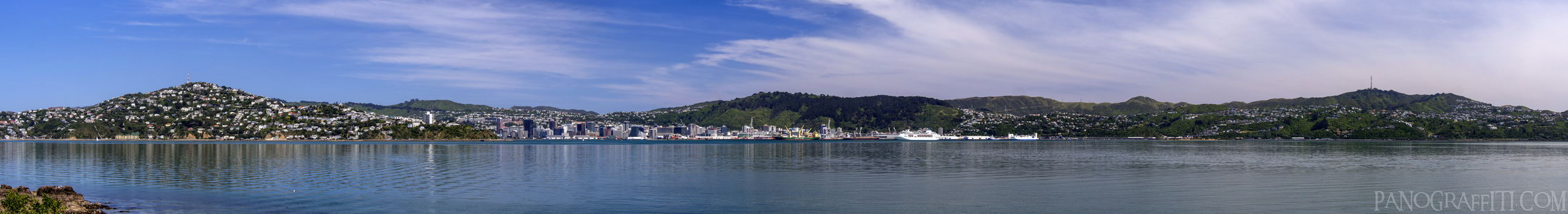 Wellington From Point Halswell - Wellington Harbour, Wellington, New Zealand